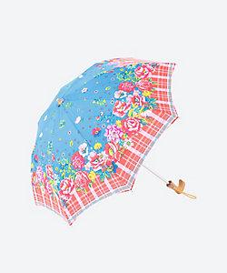<集花>折りたたみ日傘 赤