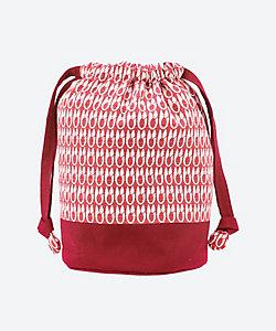 型小紋三橋工房/カタコモンミツハシコウボウ 布巾着(室町はさみ) 赤