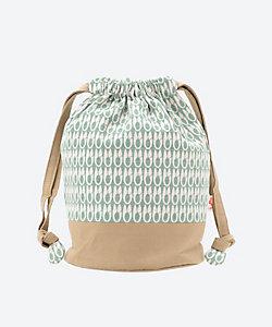 型小紋三橋工房/カタコモンミツハシコウボウ 布巾着(室町はさみ) 緑