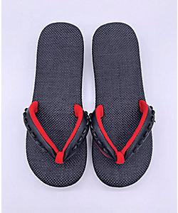 SLADKY/スラドキー 【受注生産商品】サンダル型草履 黒×赤