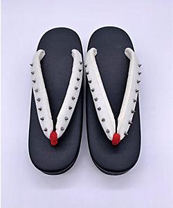 SLADKY/スラドキー 【受注生産商品】草履小判型 黒×白