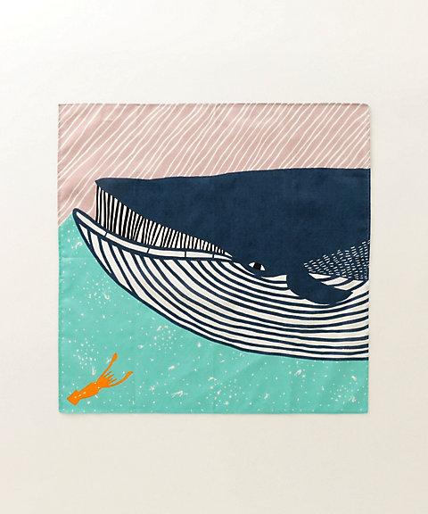 風呂敷 katakata ナガスクジラ ブルー 【三越・伊勢丹/公式】