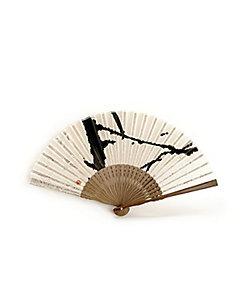 アトリエ・Kinami/アトリエキナミ 小熊廣美 墨象扇子 7寸
