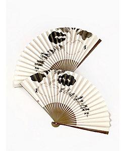 アトリエ・Kinami(石塚智之)/アトリエ・キナミ(イシヅカトモユキ) 墨手描き扇子 干支の蕪引き
