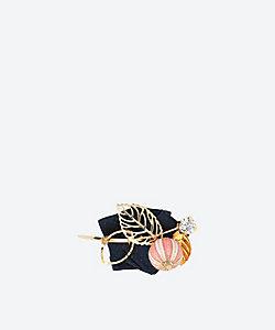 吉春吉/ヨシハルキチ 【受注生産商品】帯留・ブローチ 実り(ネイビー)