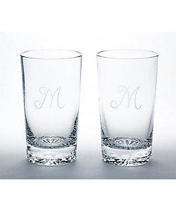 MEISSENER BLEIKRISTALL/マイセンクリスタル ペアタンブラー「M」
