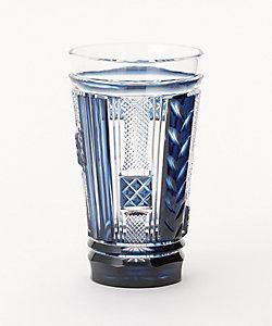 島津薩摩切子/シマヅサツマキリコ トールタンブラー 藍