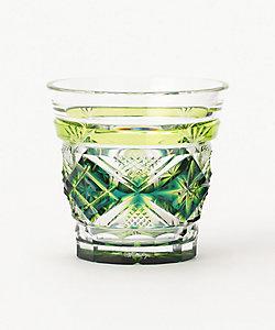 二色冷酒杯 蒼黄緑
