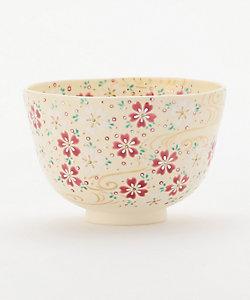 [福本未来] 茶碗 色絵 流水に桜