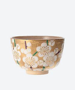 茶道具/サドウグ <南口閑粋>茶碗 金泥 白梅