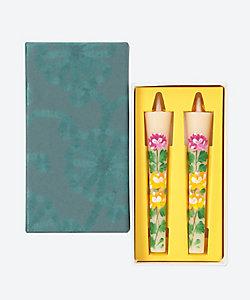 松本商店/マツモトショウテン 絵ろうそく2本 菊