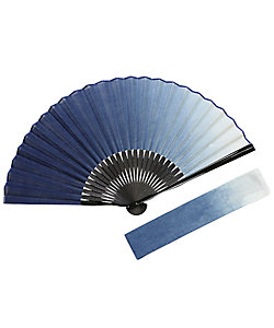 白竹堂/ハクチクドウ 紳士扇子 本藍染セット