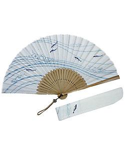 白竹堂/ハクチクドウ 紳士扇子 青風セット 蜻蛉