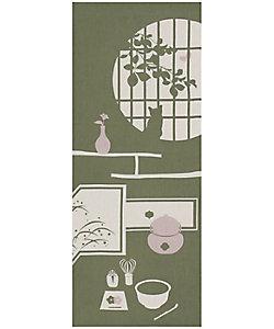 飾り手ぬぐい ねこ 茶室(利休)