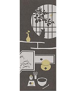 飾り手ぬぐい ねこ 茶室(グレー)