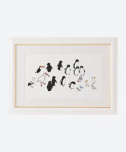 坂崎千春 アート/サカザキチハル アート ペンギンと鳥たちの広場