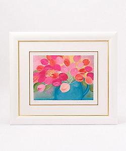 ジニー・キム/ジニー・キム セルリアンブルー色の花瓶とチューリップ