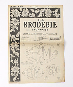 """CARBOOTS(VINTAGE)(Women)/カーブーツ(ヴィンテージ) 1949's フランス 刺繍新聞 """"La Bruderie"""""""