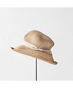 mature ha./マチュアーハ 帽子 BOXED HAT アバカ 9cm ブリムハット