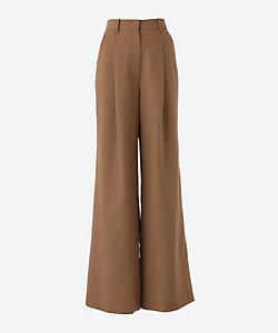KINDER SALMON(Women)/キンダーサルモン 14WOOL WIDE PANTS