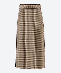 Scye/サイ gun club check high rise long skirt