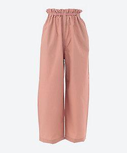 PHEENY(Women)/フィーニー Nylon cotton grosgrain easy pants