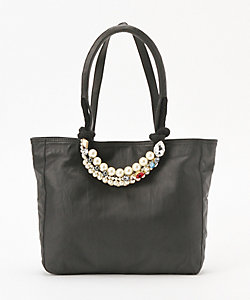 carnet(Women)/カルネ Sheep Leather×Swarovski TOTE BAG(CE-1804-210)