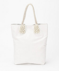 carnet(Women)/カルネ Sheep leather Tote Rope×Pearl Handle/Medium(CE-1804-230)