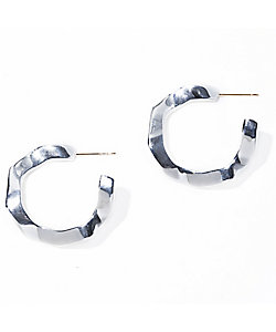 IRIS47(Women)/イリスフォーセブン wavy pierce silver