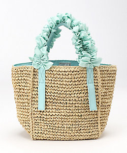 Grape handle tote (Raffia) Ssize
