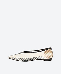 KIKKOU MESH V CUT FALT PUMPS