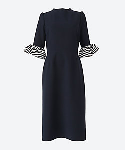 BORDERS at BALCONY(Women)/ボーダーズアットバルコニー 別注RUFFLED SLEEVES Dress