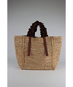 Grape handle tote(Raffia)