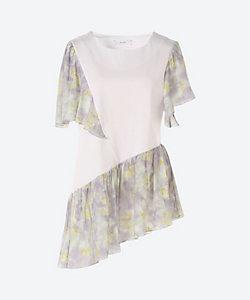 Arobe/アローブ Lace Flower Docking Cutsew