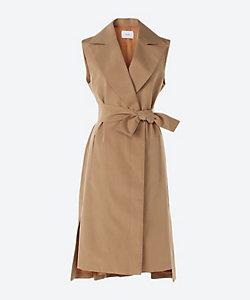 Arobe/アローブ Linen Tusser Long Gilet Dress