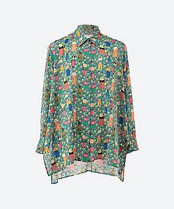 mannine(Women/大きいサイズ)/マンナイン Aラインシャツ プラスサイズ 【予約商品・5月上旬以降届け】