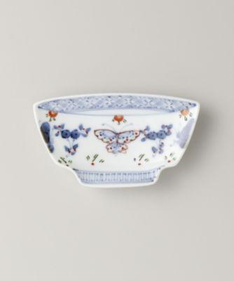 福珠窯の天啓花蝶 碗型手塩皿
