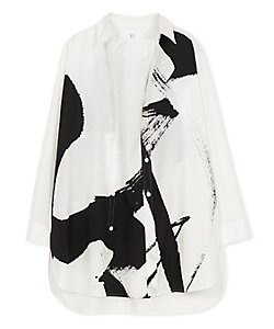 Y's(Women)/ワイズ 100/2BROAD CALLIGRAPHY PRINT BLOUSE