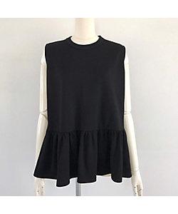 tinoir(Women)/ティノアール フリルタンクTシャツ スモールサイズ