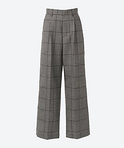 AKIRANAKA(Women)/アキラナカ Kael glen plaid pants WHBK