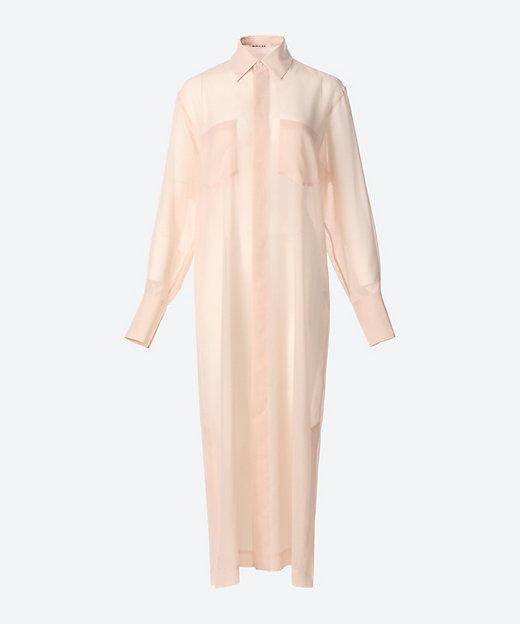 <AURALEE(Women)/オーラリー> WOOL RECYCLE POLYESTER SHEER CLOTH ONE-PIECE LIGHT PINK【三越伊勢丹/公式】