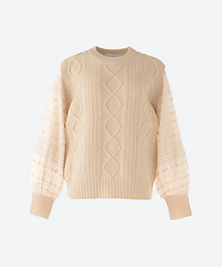 ANTIPAST/アンティパスト Knit pullover with embroidered sleeves
