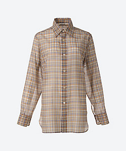 AURALEE(Women)/オーラリー WOOL RECYCLE POLYESTER SHEER CHECK SHIRTS