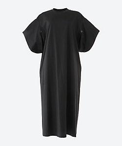 AKIRANAKA(Women)/アキラナカ Slit sleeves T dress BK