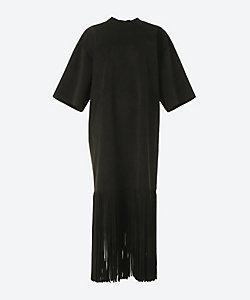 HYKE(Women)/ハイク FAUX SUEDE FRINGED DRESS