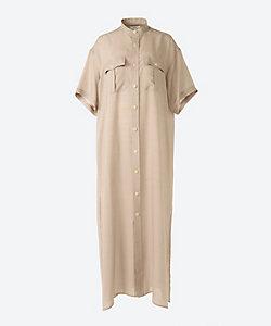 HYKE(Women)/ハイク SHARK SKIN SHIRT MAXI DRESS