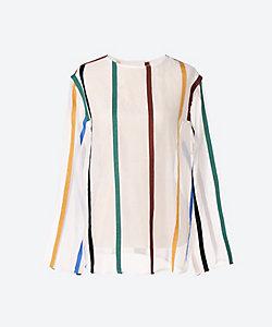 AKIRANAKA(Women)/アキラナカ Lynettle multi stripe PO WH