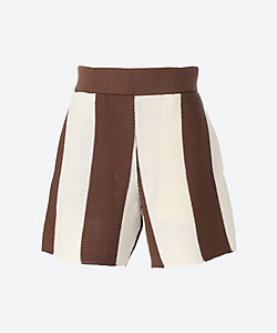AKIRANAKA(Women)/アキラナカ Veer knit shorts pants BRWH