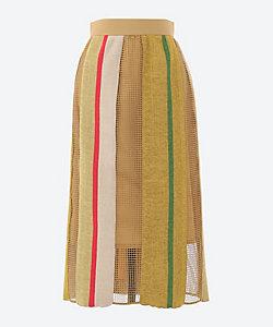 AKIRANAKA(Women)/アキラナカ Reyna net combi knit SK BE
