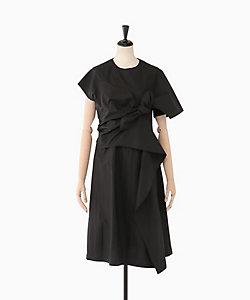 AKIRANAKA(Women)/アキラナカ Drape knot dress BK